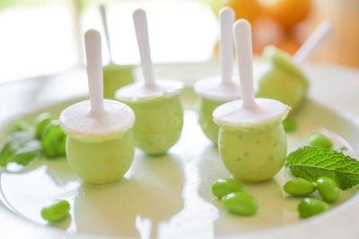 helados sanos de wasabi y edamames